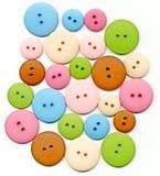 Colección en colores pastel del botón Imagen de archivo