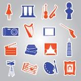 Colección eps10 de las etiquetas engomadas del arte Foto de archivo libre de regalías