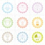 Colección hermosa del icono del bebé Fotos de archivo