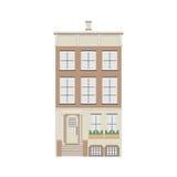 Colección linear detallada hermosa del paisaje urbano con las casas urbanas Calle de la pequeña ciudad con las fachadas del edifi Imágenes de archivo libres de regalías