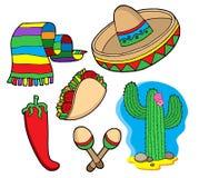 Colección mexicana Imagen de archivo libre de regalías