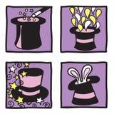 Colección mágica de los sombreros Imagen de archivo