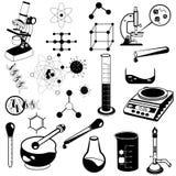 Colección negra de la ciencia Fotos de archivo