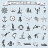 Colección náutica de los elementos Fotografía de archivo libre de regalías