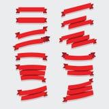 Colección roja de las cintas Imagenes de archivo