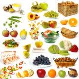 Colección sana del alimento Fotografía de archivo libre de regalías