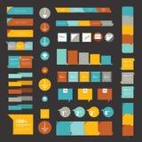 Colecciones de diagramas planos del diseño del infographics. stock de ilustración