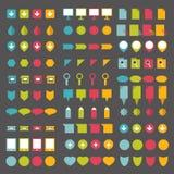 Colecciones de indicadores planos del diseño del infographics ilustración del vector