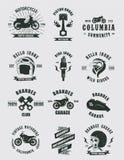 Colecciones de la motocicleta de las insignias Imágenes de archivo libres de regalías