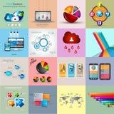 Colecciones de la plantilla de Infographic con muchos diversos elementos del diseño stock de ilustración