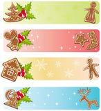 Colecciones de las banderas de la Navidad. Fotos de archivo