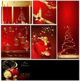 Colecciones del fondo de la Feliz Navidad stock de ilustración
