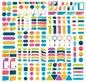 Colecciones mega de elementos planos del diseño del infographics, botones, etiquetas engomadas, papeles de nota, indicadores