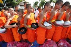 Colecciones tailandesas budistas de los monjes Fotografía de archivo libre de regalías