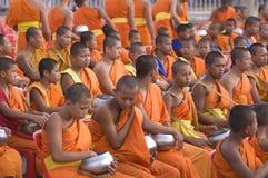 Colecciones tailandesas budistas de los monjes Fotografía de archivo