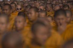 Colecciones tailandesas budistas de los monjes Imagen de archivo