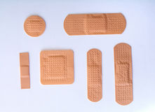 Colection of bandages Stock Photography