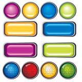 Colection button Royalty Free Stock Photo