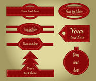 Colection of decorative strips with motion of Christmas Royalty Free Stock Photos