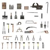 Colection of tools Royalty Free Stock Photography