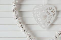 Colector blanco del sueño del corazón Fotografía de archivo libre de regalías