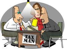 Colector de impostos ilustração royalty free