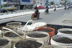 Colector del clavo en la calle de Jakarta Imagen de archivo