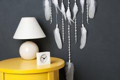 Colector ideal blanco en gris Fotografía de archivo libre de regalías