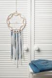 Colector ideal con las plumas blancas Imagen de archivo