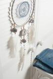 Colector ideal con las plumas blancas Fotos de archivo