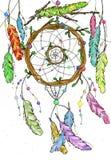 Colector ideal dibujado mano de ramas de árbol Foto de archivo libre de regalías