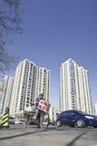 Colector reciclable de la basura, Pekín, China Fotos de archivo libres de regalías