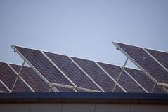 Colectores solares Fotos de archivo libres de regalías