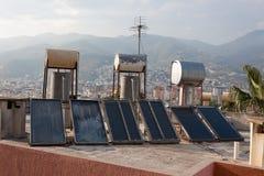 Colectores termales solares Imagen de archivo
