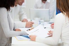 Colegas del negocio en una reunión Imagen de archivo libre de regalías