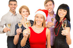 Colegas felizes do negócio Imagem de Stock Royalty Free