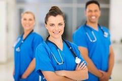 Colegas femeninos de la enfermera Imágenes de archivo libres de regalías