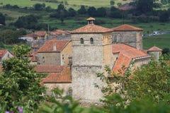 Colegial de Santillana Del Mar, Cantabria Foto de archivo libre de regalías