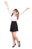 Colegiala adolescente en ropa formal Imágenes de archivo libres de regalías