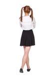 Colegiala adolescente en ropa formal Imagen de archivo