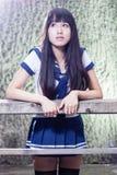 Colegiala asiática de la escuela secundaria Fotos de archivo
