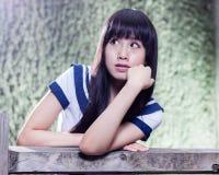Colegiala asiática de la escuela secundaria Fotografía de archivo