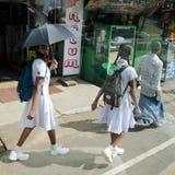 Colegiala srilanquesa Foto de archivo libre de regalías
