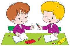 Colegiales stock de ilustración