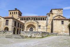 Colegiata在海边的散提亚拿,西班牙 免版税库存照片