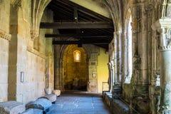 Colegiata church of Santa Juliana in Santillana del Mar, Cantabria, Spain stock photos