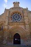 Colegiata de Nuestra Señora del Manzano, Castrojeriz - Spain Stock Images