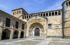 Colegiata en Santillana Del Mar, España Fotografía de archivo libre de regalías