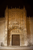Colegio de San Gregorio at night, Valladolid Royalty Free Stock Images