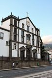 Colegio`s church Saint John the Evangelist in Funchal, Madeira. Portugal. It is one of the most beautiful 17th century monuments. Its construction represents Royalty Free Stock Images